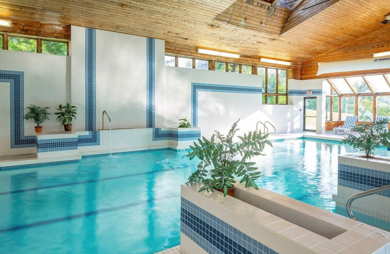Indoor pool at Golden Eagle Resort.