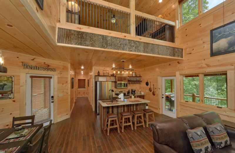 Rental interior at Elk Springs Resort.