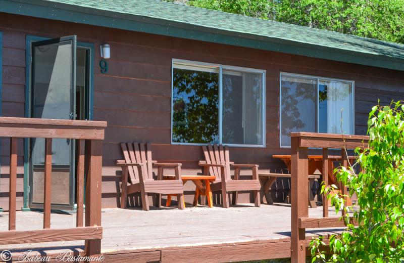 Cabin exterior at Meeks Bay Resort
