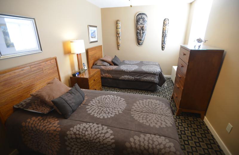Guest bedroom at Friendship Suites.