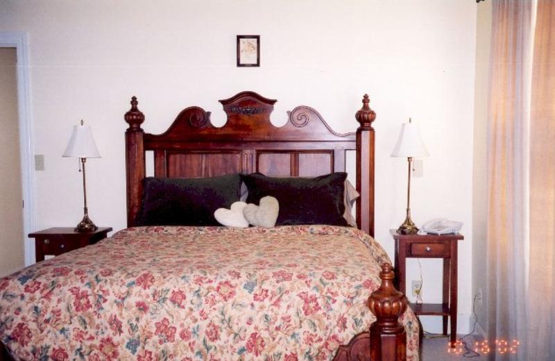 Cottage bed at Vine Hill House.