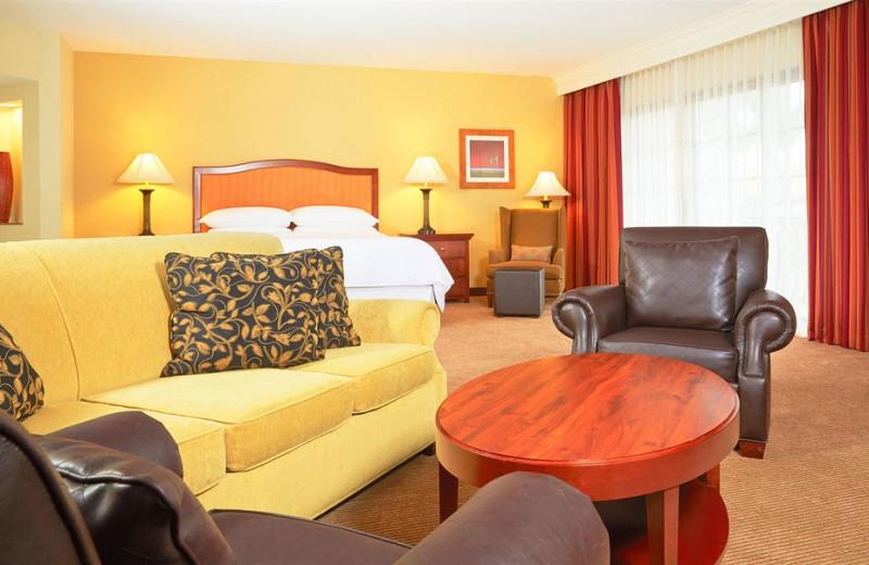 Guest room at Sheraton Carlsbad Resort & Spa.