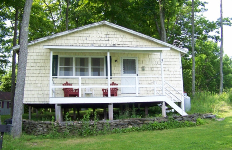 Cottage exterior at Fieldstone Farm.
