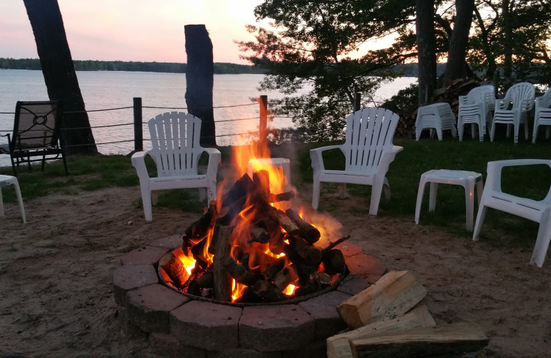 Bonfire at Lake Cabins Resort.