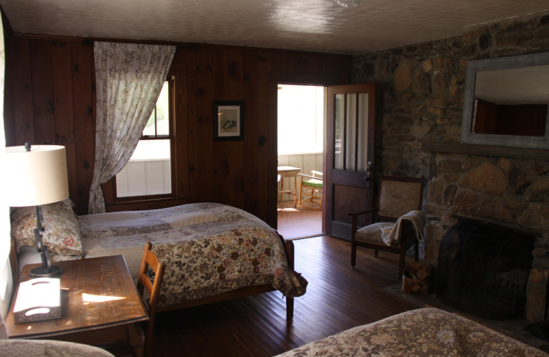 Guest room at Pisgah View Ranch.