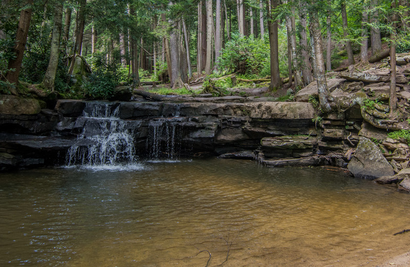 Waterfall at Railey Vacations.