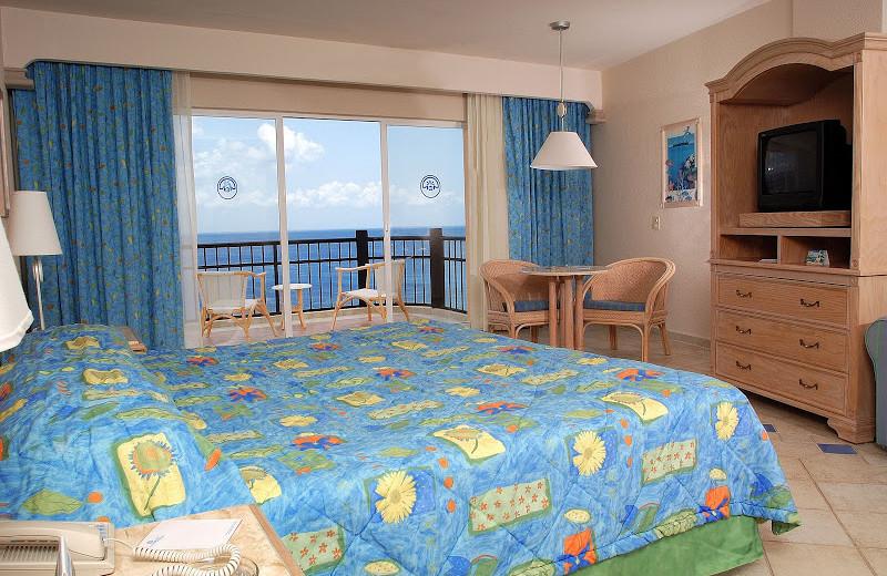 Guest room at El Cozumeleno Beach Resort.