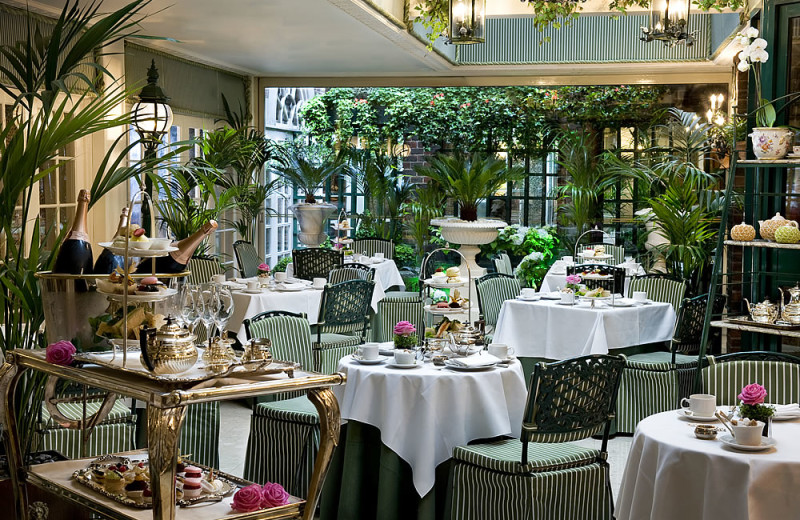 Dining at The Chesterfield Mayfair Hotel.