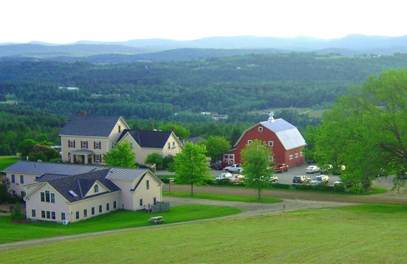 Aerial view of The Wildflower Inn.