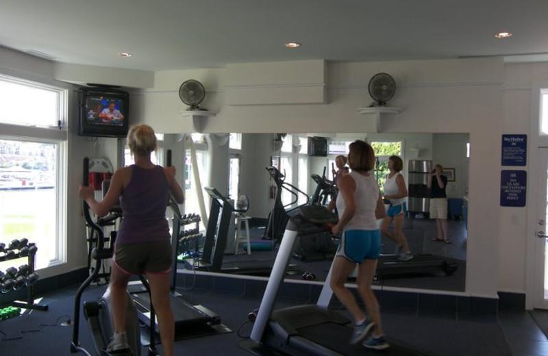 Fitness room at Bay Harbor Resort and Marina.