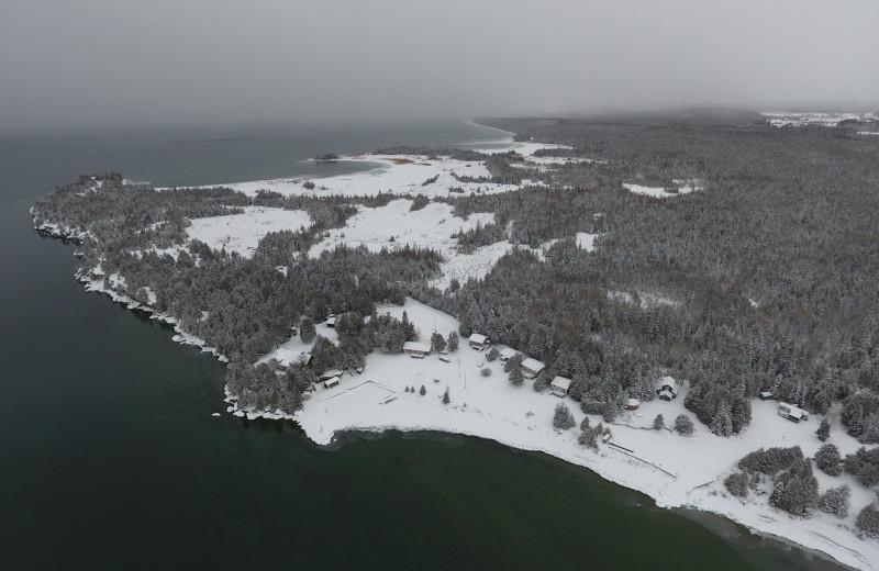 Aerial view of Black Rock Resort.