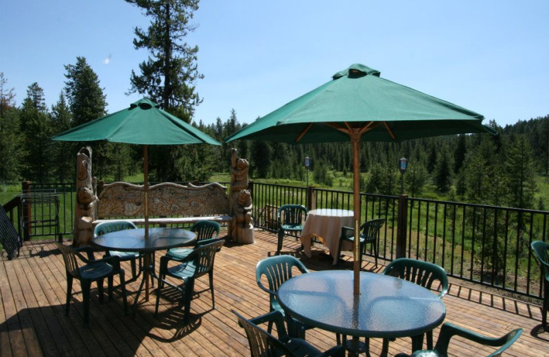 Deck view at Bear Creek Lodge.