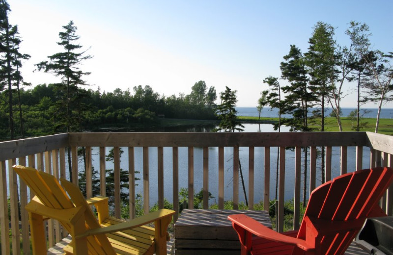 Private Porch at Pictou Lodge Resort