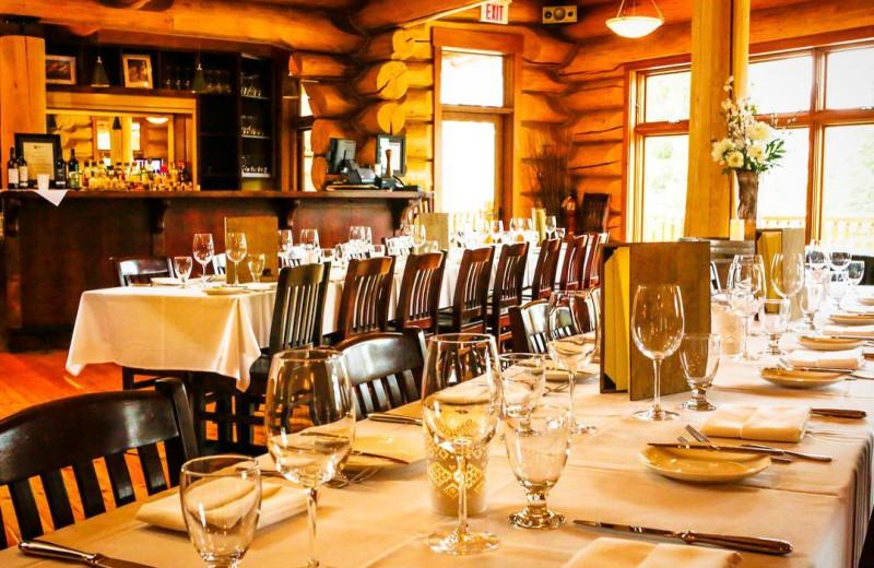 Dining at Island Lake Lodge.