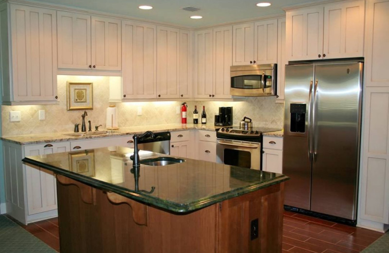 Rental kitchen at Amelia Island Rentals, Inc.