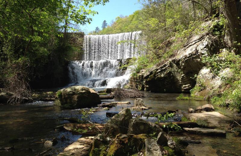Waterfall near Ozark Country Inn.