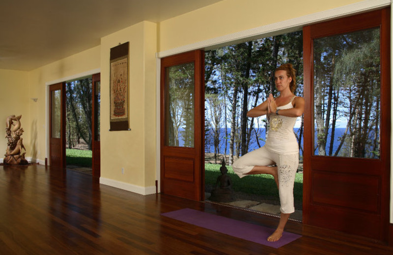 Yoga studio at Hawaii Island Retreat.