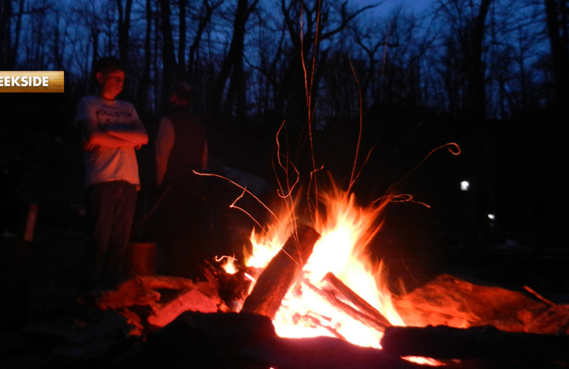 Bonfire at High Rock Rentals.