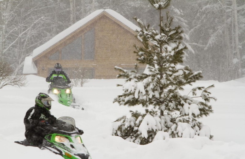 Snowmobiling at Willough Vale Inn.