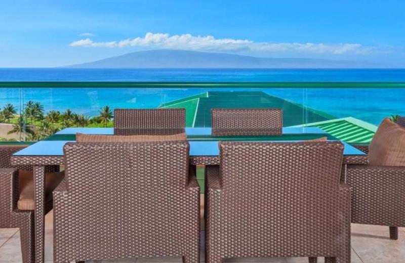 Guest balcony at Honua Kai Resort & Spa.