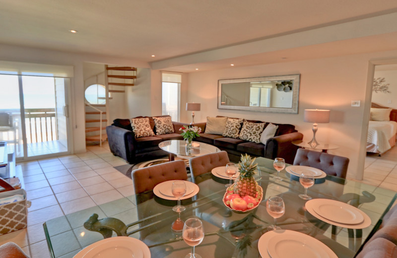 Rental living room at La Isla VR - South Padre.