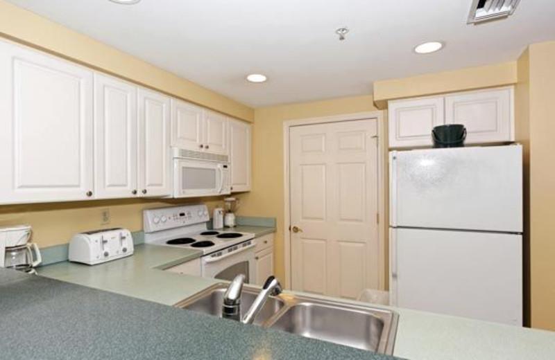 Kitchen View at Waterside Resort