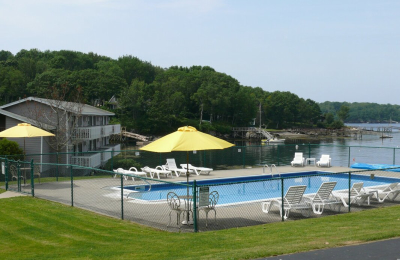 Outdoor pool at The Smugglers Cove Inn.