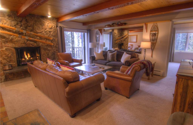 Rental living room at Westwind at Vail.