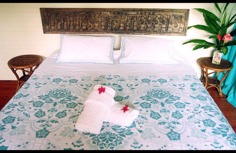 Guest room at Julatten Mountain Retreat.