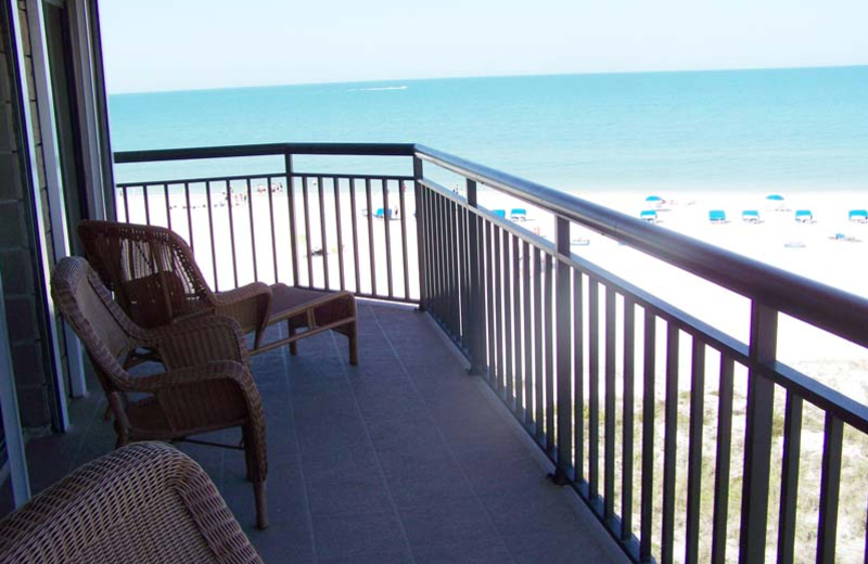Balcony view at Gulf Strand Resort.