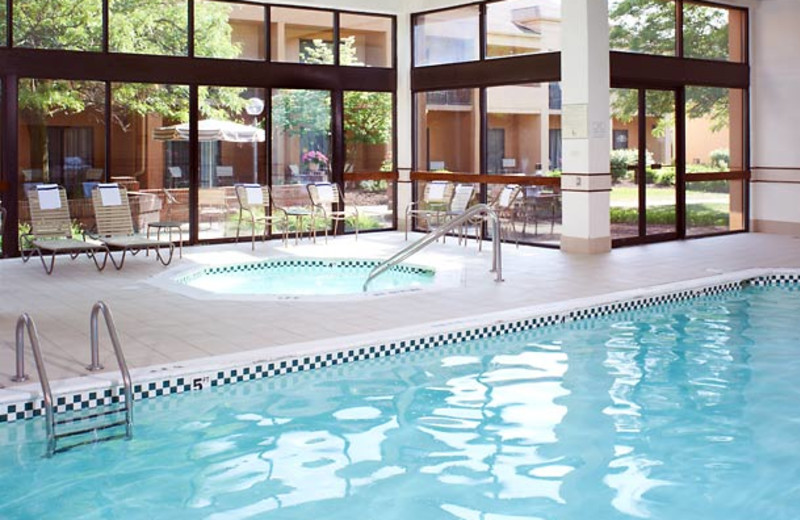 Indoor pool at Courtyard by Marriott Detroit Dearborn.