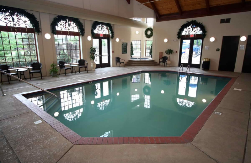 Indoor pool at The Inn at Christmas Place.