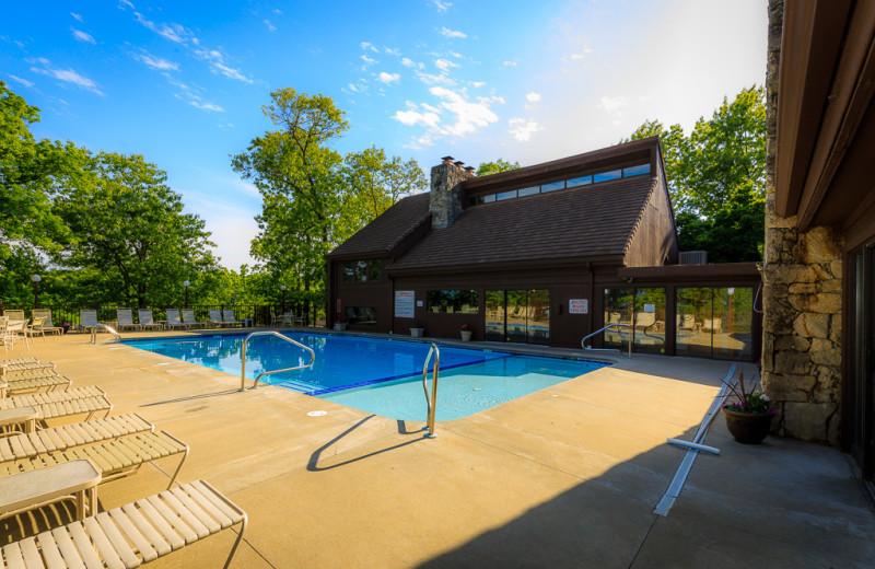 Pool at The Knolls Resort Condominiums.