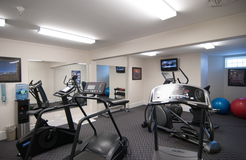 Fitness room at Beachmere Inn.