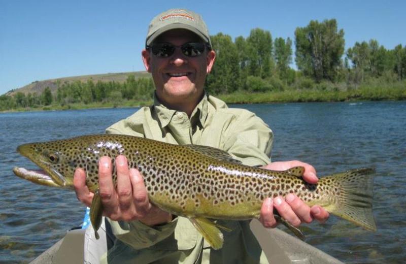 Fishing at The Lodge at Palisades Creek.