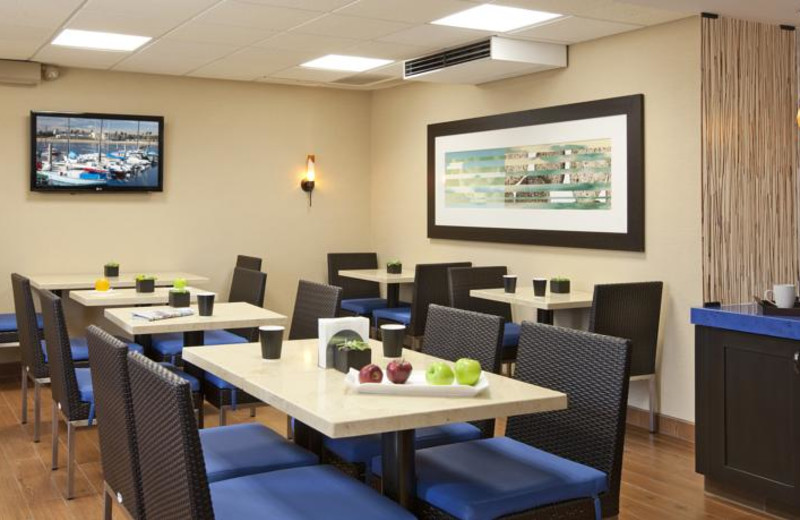 Dining room at The Inn at Marina del Rey.