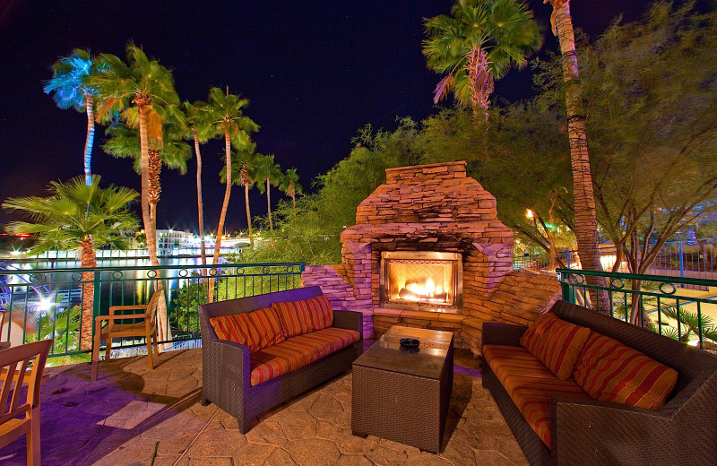 Outdoor lounge at London Bridge Resort.