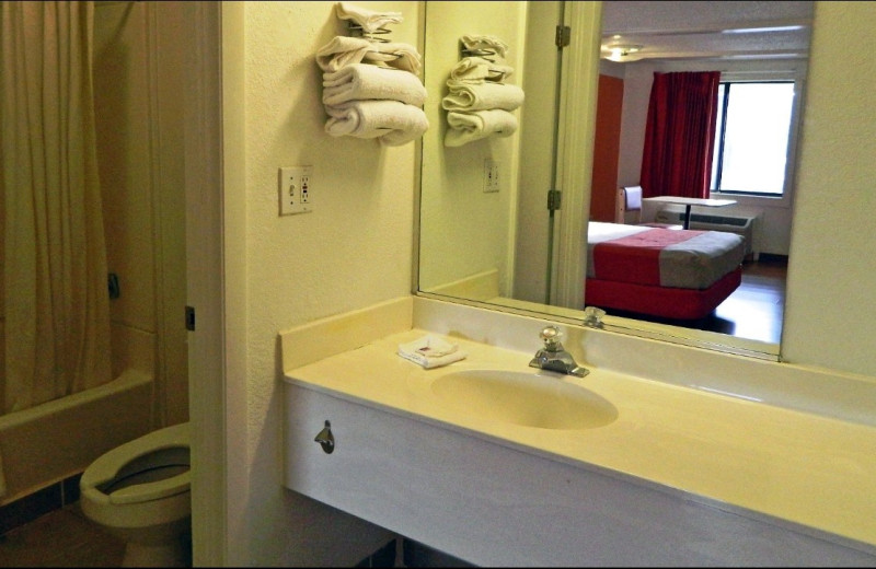Guest bathroom at Motel 6 - Benton Harbor