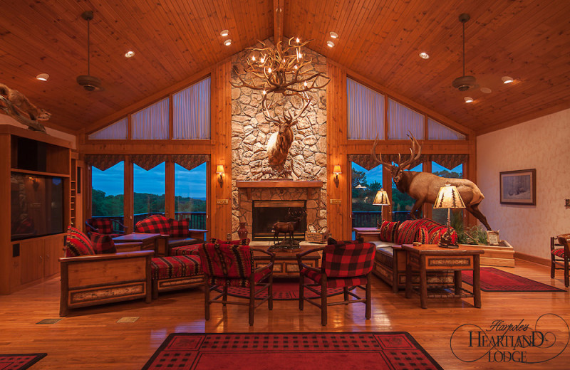Lodge living room at Harpole's Heartland Lodge.