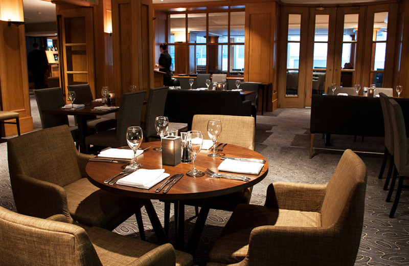 Dining at GoGlasgow Urban Hotel.
