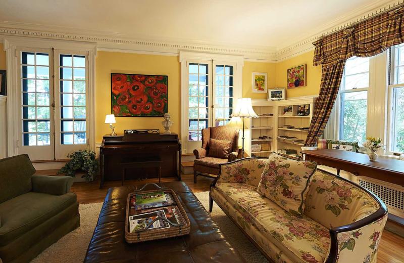 Living room at Birchwood Inn.