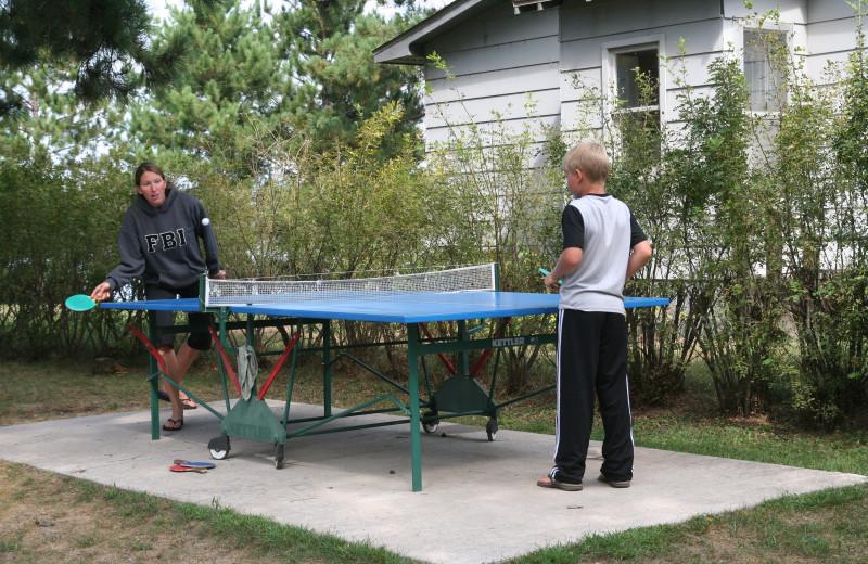 Ping pong at Bay View Lodge.