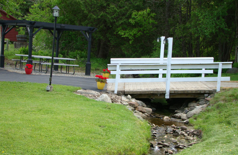Bridge at Bay Leaf Cottages & Bistro.