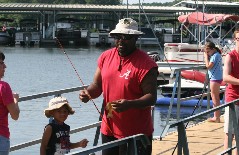 Fishing fun at Highland Marina Resort.