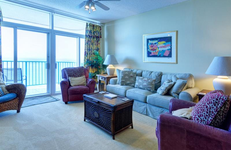 Rental living room at Newman-Dailey Resort Properties, Inc.
