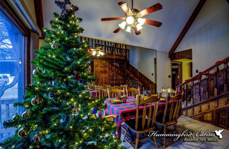 Christmas Time At Hummingbird Cabins