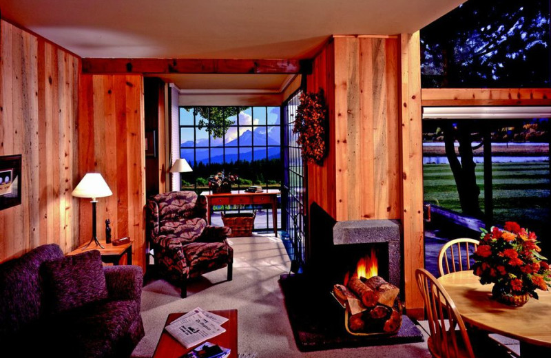 Guest room interior at Black Butte Ranch.