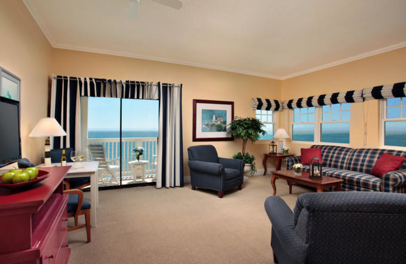 Living Room at Pismo Lighthouse Suites