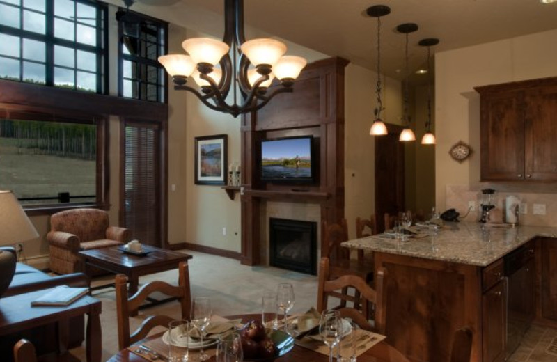 Suite interior at Grand Lodge on Peak 7.