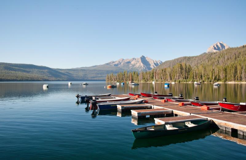 Canoe rentals at Redfish Lake Lodge.
